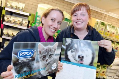 Chesterfield RSPCA feature. Julie Platts and Christine Duckworth. Read more at: http://www.derbyshiretimes.co.uk/news/chesterfield-rspca-launches-purr-fect-charity-calendar-1-8242335