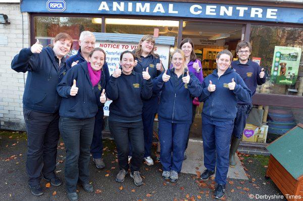 RSPCA staff celebrate the latest milestone
