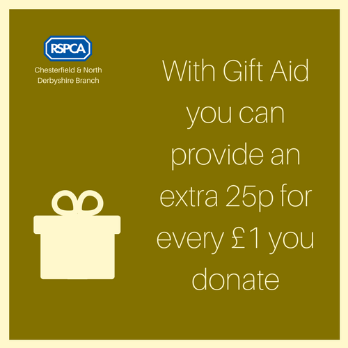With Gift Aid you can provide an extra 25p for every £1 you donate
